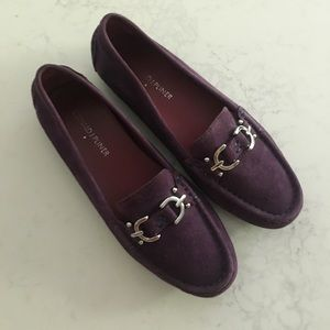Donald J Pliner Viky purple suede loafers 6.5